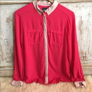 Anthropologie Maeve Button Down Blouse Small
